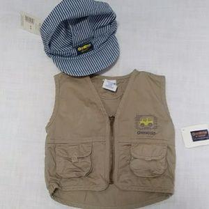 Osh Kosh Vintage baby Vest & Hat